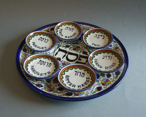 Seder Plate, Plate for the Passover Meal, Passover Plate by Armenian