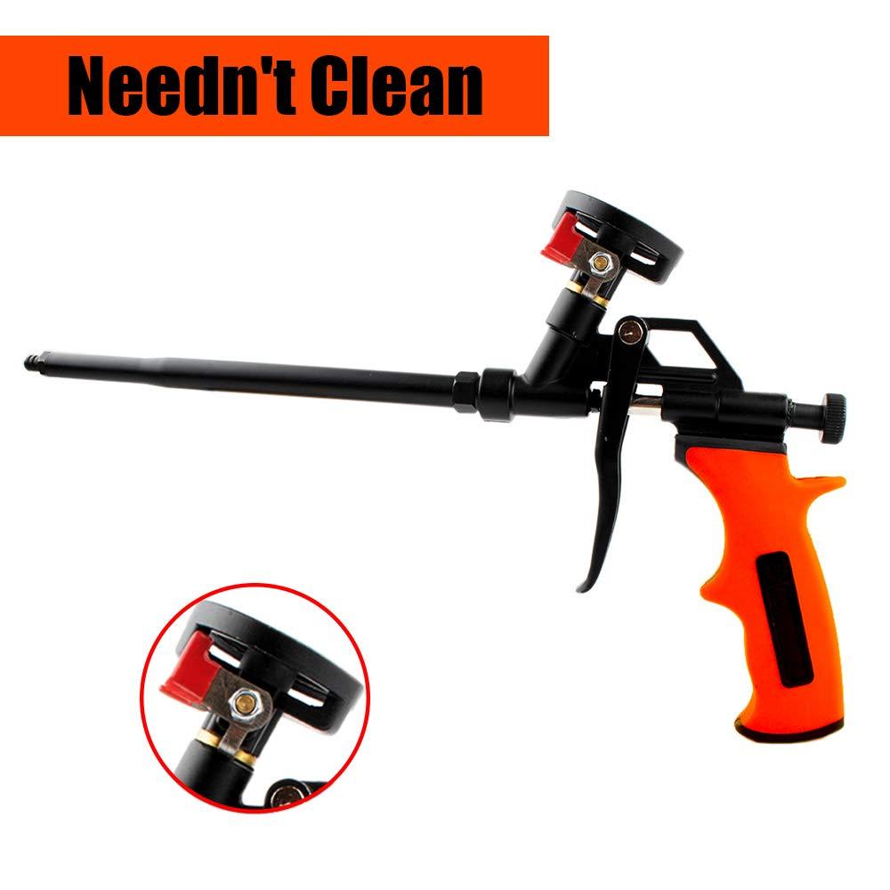 Needn't Clean Foam Gun Hand Foam Caulking Gun Expanding Filling Sealing Aluminum PU Metal Pro Spray Applicator