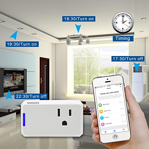 Superior Quality Mini Wifi-Enabled Smart Outlet By OOSSXX - No-Hub Wireless Plug - Compatible With Lights, Home Appliances - Remote Control With Smartphone/Tablet - Works W/Amazon Alexa by OOSSXX (Image #5)