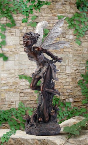 Amazon.com : Napco Bronze Kissing Fairy Garden Statue, 34 Inch Tall : Outdoor  Statues : Patio, Lawn U0026 Garden