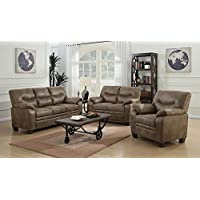 Coaster 506562-CO Fabric Sofa, Brown Finish