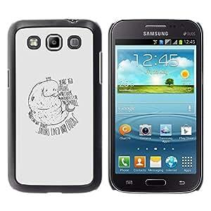 // PHONE CASE GIFT // Duro Estuche protector PC Cáscara Plástico Carcasa Funda Hard Protective Case for Samsung Galaxy Win I8550 / Manatee Mermaid - Funny /