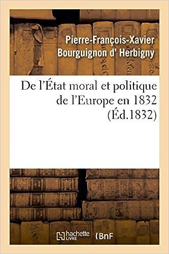 Book De l'État moral et politique de l'Europe en 1832 (Histoire)
