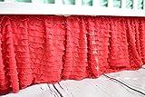Coral Crib Skirt for Baby Girl Nursery Bedding Dust Ruffle