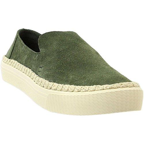(TOMS Women's Sunset Suede Slip-On, Size: 9.5 B(M) US, Color: Pine Suede/Rope)