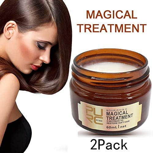 2 PCS Magic Treatment Hair Mask, Professional Hair Conditioner, 5 Seconds Repair Damage, Deep Hydrating, Hair Recover Mask, Suitable for Dry, Chemically Treated Hair