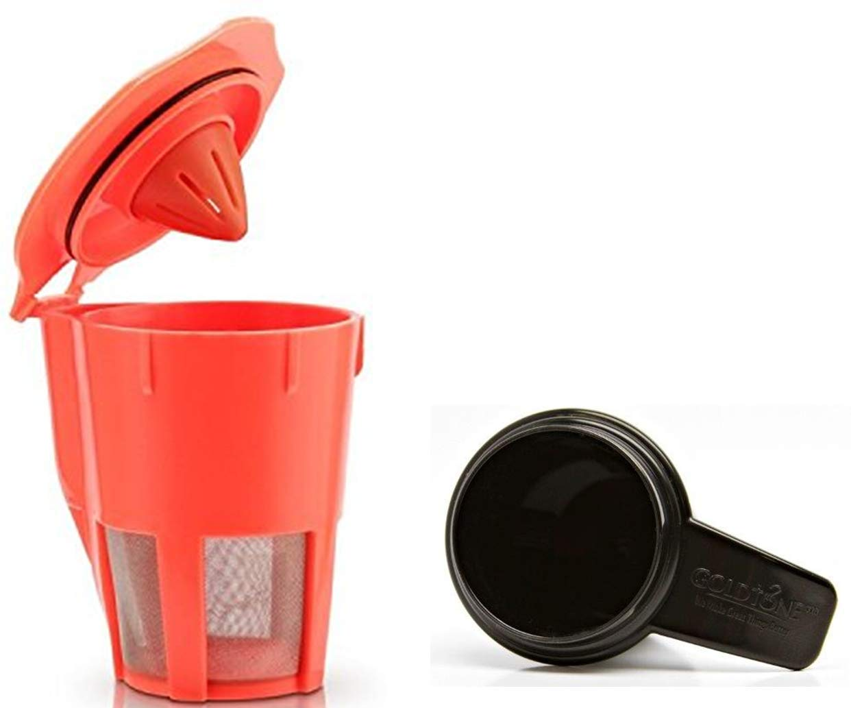 GoldTone Brand Reusable Coffee Filter comapatible with Keurig 2.0 K200, K300, K400, K500 Series, and K Carafe K Cup (Carafe filter + Scoop)
