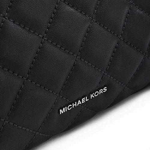 Michael Kors Zoe, trapuntato, colore: nero, Borsa in pelle con manico, Nero (Pelle nera),