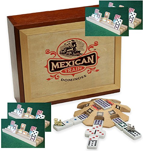 4 solid wood domino racks - 7