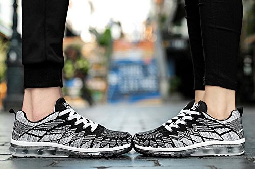 Women's Full Fashion Black Palm Sneakers Shoes JiYe Men's Running Cushion dqH0ywyIK7