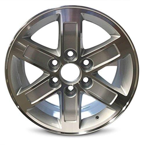 (Road Ready Car Wheel For 2010-2014 GMC Savana 1500 2007-2013 Sierra 1500 2007-2014 Yukon 1500 17 Inch 6 Lug Silver Machine Face Alloy Rim Fits R17 Tire - Exact OEM Replacement - Full-Size Spare )
