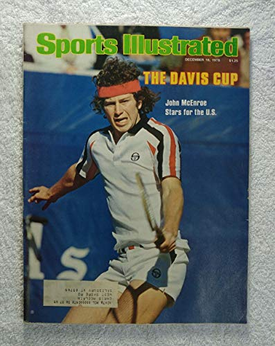 John McEnroe - The Davis Cup - Sports Illustrated - December 18, 1978 - Tennis - - Cover Illustrated Sports 1978
