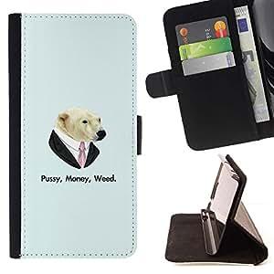 Momo Phone Case / Flip Funda de Cuero Case Cover - Coño Money Weed Oso;;;;;;;; - Apple Iphone 5C