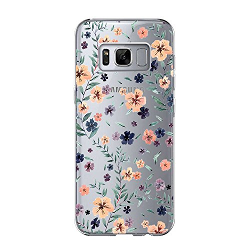 Price comparison product image Samsung Galaxy S8 Case Vanki Clear View Soft Fashionable Print Flip Case Cover (Color13)