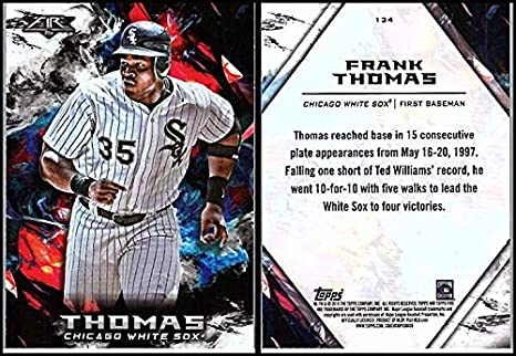 8f3b42b3a Amazon.com  2018 Fire  134 Frank Thomas White Sox Baseball ...