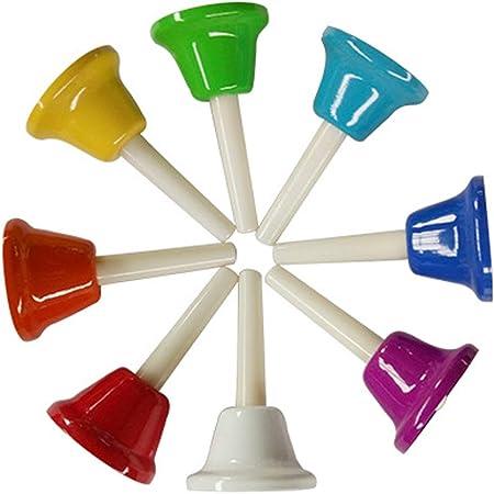 8 Note Diatonic Metal Bells Musical Bells for Children and Mini Handbell Set