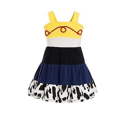 Toy Story Jessie Tunic Tank Jessie Costume for Little Girls Toddler Jessie Toy Story 3 Child Costume Jessie Toy Story Dress: Clothing