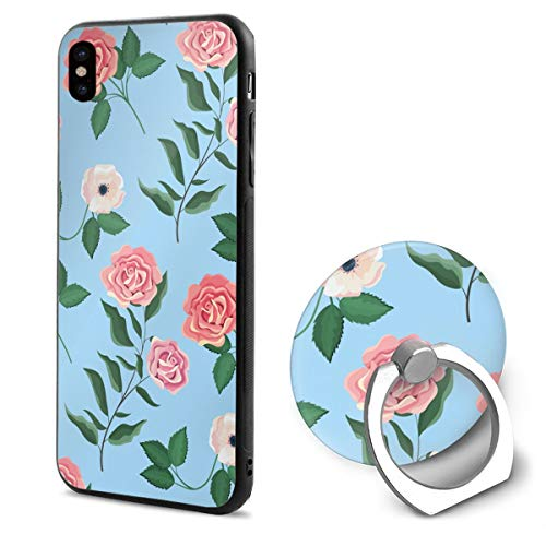 Rose Metal Wild Pedestal (Wildflowers and Roses Case and Mobile Phone Stand IphoneX,IphoneX Case,Shock-Absorption & Skid-Proof Anti-Scratch Case for Apple IphoneX)