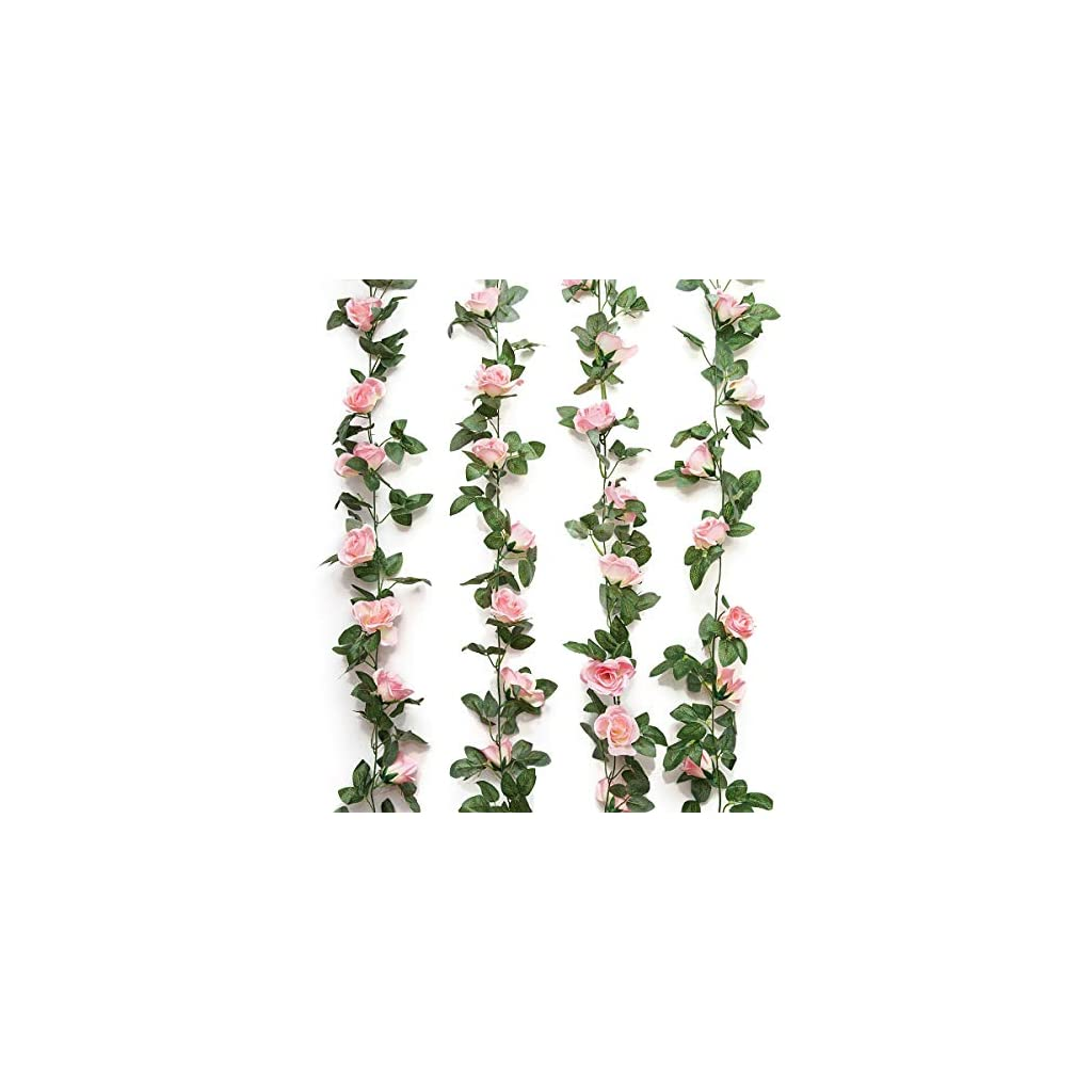 Yebazy-Jinway-Fake-Rose-Vine-Garland-Artificial-Flowers-Plants-for-Hotel-Wedding-Home-Party-Garden-Craft-Art-Decor-Pink