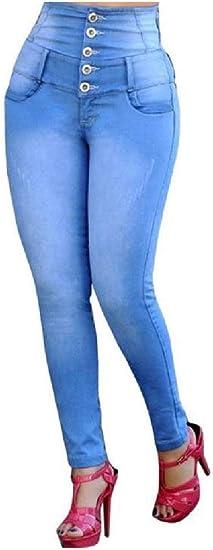 AngelSpace 女性ビッグヒップスリムフィットセクシーハイウエストフレキシブルデニムパンツ
