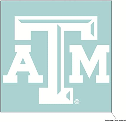 One Size Team Color WinCraft NCAA Alabama Crimson Tide 4x4 Perfect Cut White Decal