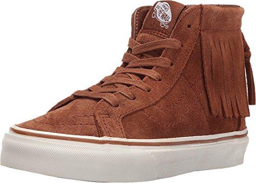 - Vans Girl's Sk8 Hi Moc Suede Skateboarding Shoes, Monks Robe/Blanc, 13 Little Kid