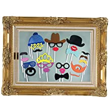 Photo Booth Props Picture Frame 24pcs Christmas Party Wedding DIY Funny Faces With Glasses Mustache Lips
