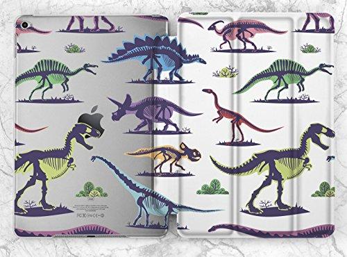 Ancient Colorful Dinosaurs Skeleton Art Case For Apple iPad Mini 1 2 3 4 iPad Air 2 iPad Pro 9.7 10.5 12.9 inch iPad 9.7 inch 2017 (Dinosaurs Ancient Art)