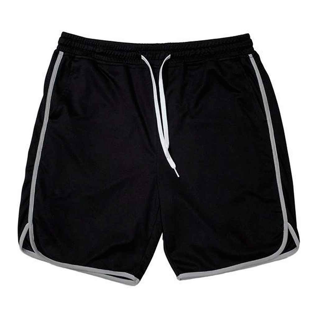 Minzhi Men Fitness Sweat Shorts Running Short Breathable Trousers Athletic Sports Elastic Jogger Training Pants