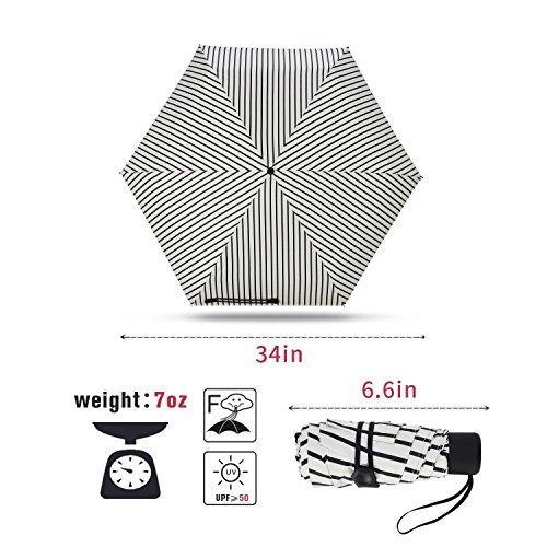 Fidus-Ultra-light-Mini-Compact-Travel-Umbrella--Windproof-Portable-Parasol-Sun-Rain-Outdoor-Golf-Umbrella-With-95-UV-Protection-for-Women-Men-Kids-stripe-white