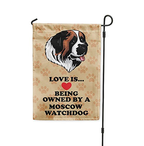 Love is being owned by MOSCOW WATCHDOG DOG Yard Patio House