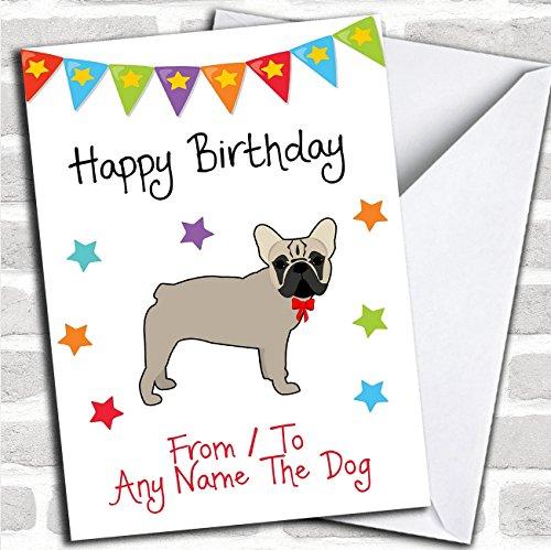 Bulldog Birthday (To From Pet Dog French Bulldog Personalized Birthday Card)