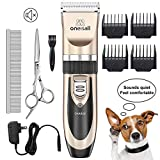 Best Dog Clippers Sets - ONEISALL Dog Shaver Clippers Low Noise Rechargeable Cordless Review
