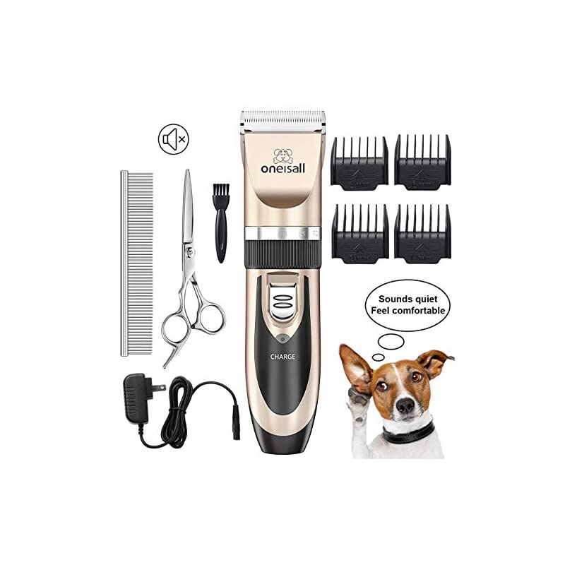 dog supplies online oneisall dog shaver clippers low noise rechargeable cordless electric quiet hair clippers set for dog cat