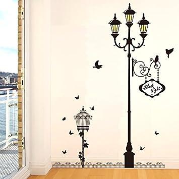 Amazon Com Creative European Street Lamp Wallpaper Living Room