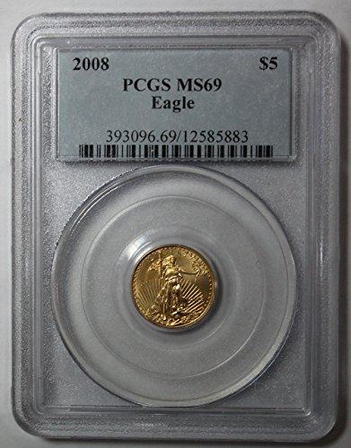 2008 P Gold Eagle $5 MS69 PCGS