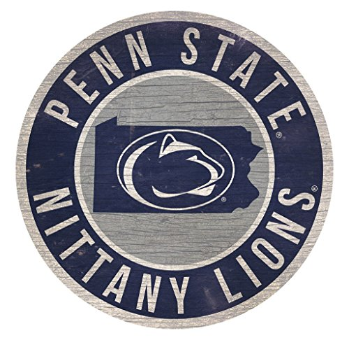 Fan Creations Penn State Nittany Lions Wood Sign 12 Inch Round State (Lions Wood Sign)