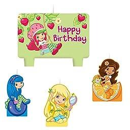 Strawberry Shortcake \'Dolls\' Cake Candle Set (4pc)