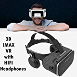 VR Headset Gafas de Realidad Virtual, Tsanglight 3D Auricular VR Glasses w/Over The Ear Headphones for Adult Kid to Enjoy 3D Movie/Video/Game, Compatible for 4.7-6.2 inch iOS Android PC Cellphone
