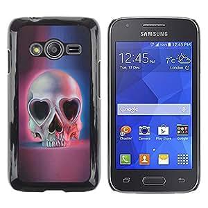 Shell-Star Arte & diseño plástico duro Fundas Cover Cubre Hard Case Cover para Samsung Galaxy Ace4 / Galaxy Ace 4 LTE / SM-G313F ( Heart Pink Blue Skull Skeleton Death )