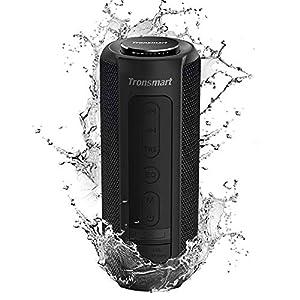 Tronsmart T6 Plus Enceinte Bluetooth 40W, Haut Parleur Portable d'extérieur avec Powerbank, 15 Heures Playtime, étanche IPX6, TWS Stéréo et Basses Puissantes, Speaker Bluetooth 5.0, Mains Libres 5
