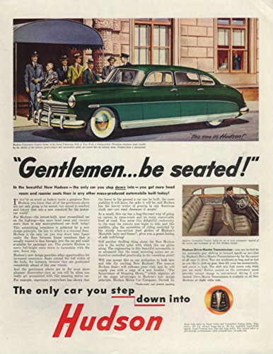 Gentlemen . . . be seated! Hudson at University Club of New York ad 1948 SEP (New York Best Gentlemen Club)