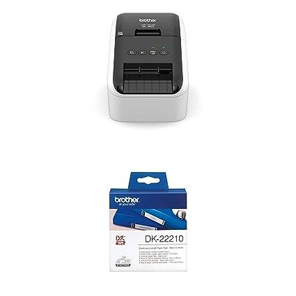 Brother QL-800 - Impresora de Etiquetas + Brother DK22210 - Cinta continua de papel térmico