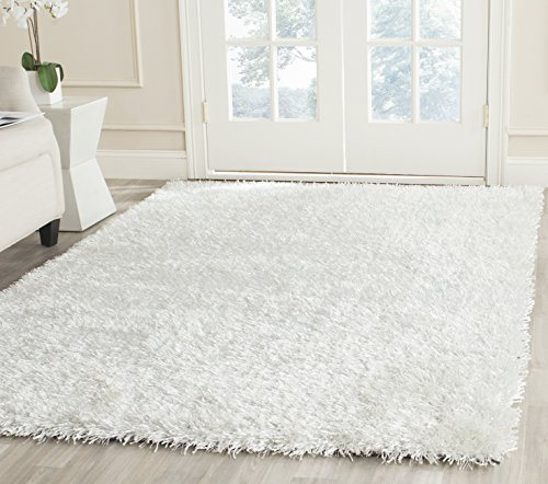Safavieh New Orleans Shag Collection SG531-1111 Off-White Polyester Area Rug (5' x 8') ()