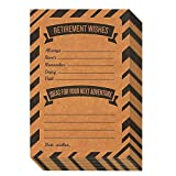 Retirement Card - 50-Pack Happy Retirement Cards Bulk, Retirement Well Wish and Advice Cards, Includes Envelopes, Perfect for Retirement Parties, 4 x 6 Inches, Kraft