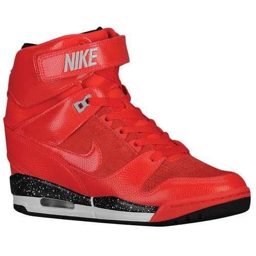 7c6eb44dd826 Nike Air Revolution Sky Hi Womens Action Red Wolf Grey Black 599410-600  (SIZE  5.5) - Buy Online in UAE.