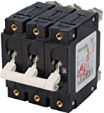 Blue Sea Systems C-Series White Toggle Triple Pole 80A Circuit Breaker