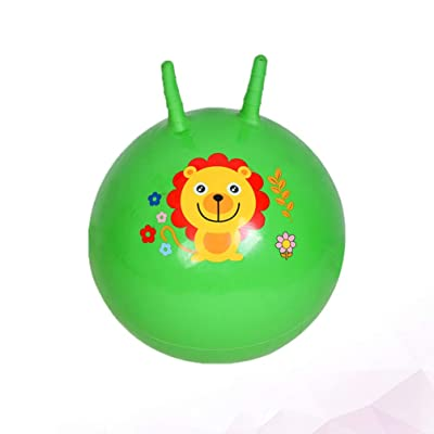 BESPORTBLE Jump Hopper Bouncy Hopping Ball with Handle Exercise Ball Bouncer Toy Bouncing Ball for Kids Toddler Kindergarten 45cm (Random Color): Toys & Games