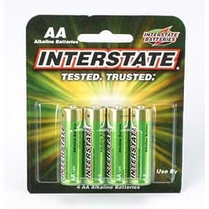 Amazon.com: Interstate Batteries AA Alkaline Batteries (4
