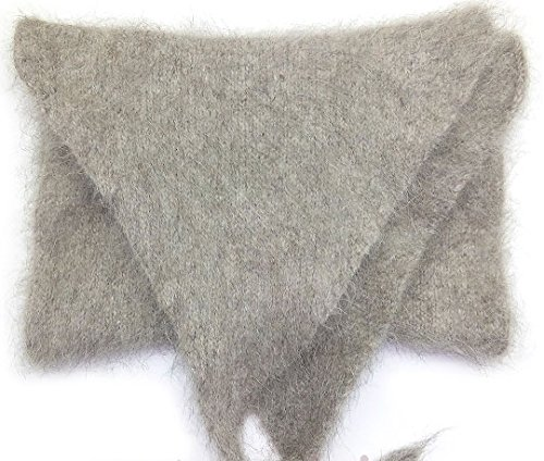 Knitting Mohair Patterns (Thick Natural Mohair Warm Wool Waist Warmer by Granny's Knitwear (Light Grey, Large))